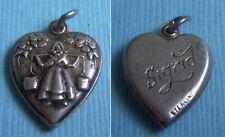 "puffy heart sterling charm Vintage Dutch milkmaid ""Sigrid"""