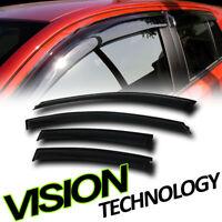 Sun/Rain/Wind Guard Smoke Shade Deflector Window Visor 4P For 11-14 Chevy Cruze