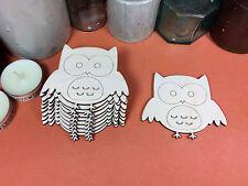 WOODEN OWL Shapes 7.5cm (x10) laser cut wood cutouts crafts blank shape