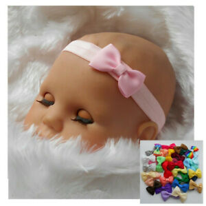 Fashion Baby Girl Headband Ribbon Elastic Headdress Kid Hair Band Newborn Bow