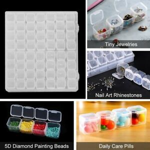 28/56 Grids Diamond Painting Accessories Box Crystal Bead Storage Boxes Tools