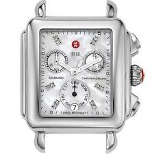 MICHELE Women's MW06P00A0046 Deco Analog Display Swiss Quartz Silver Watch