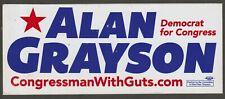 ALAN GRAYSON DEMOCRAT FOR CONGRESS BUMPER STICKER