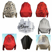 Shave Factory Clipper Pattern Barber Stylist Cutting Cape Snap or Hooked Closure