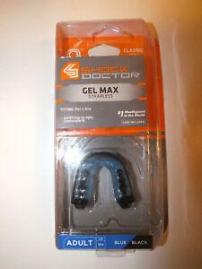 Shock Doctor Gel Max gum shield Adult 11+, blue black, new in packaging