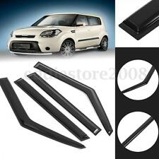 Window Vent Visors Shield Rain Guards Sun Wind Deflector For KIA Soul 2014 -17