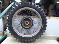 Suzuki 250 PE Enduro PE250 Rear Wheel 1977 Vintage SB155 JD SW65