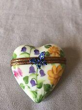 Limoges Porcelain Heart Box