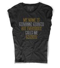 T-shirt donna GIORGIO MORODER ispirata ai Daft Punk everybody calls me Giorgio
