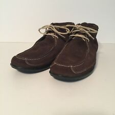 COLE HAAN Mens Brown Suede Moccasin Toe Chukka Laced Desert Ankle Boots Size 9.5