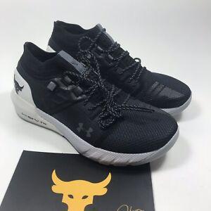 Under Armour UA PROJECT ROCK 2 Black White Training Shoes SZ 10 Men 3022024-001