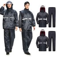 Men's Water-Resistant Motorcycle Riding Raincoat Rain Pants Windproof Rain Suit