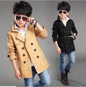 Autum kids Baby Boys  overcoat children wind coat boy trench coat