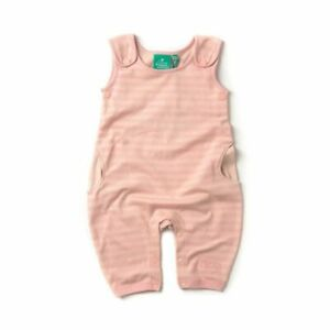 Little Green Radicals Organic cotton Cloud Pink stripe Dungarees 0 3 6 9 12