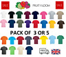 5 or 3 Pack Mens Fruit Of The Loom T-shirt Cotton Plain Tee shirts T Shirt S-5XL