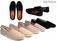 NEW Women's  Causal Slip On Round Toe Flat Crochet Sneaker Shoes Size 7 - 11