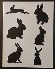 """Bunny Rabbit Rabbits 8.5"""" x 11"""" Custom Stencil FAST FREE SHIPPING"""