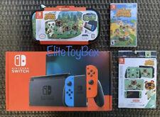 Nintendo Switch 32GB Console Joy Con Animal Crossing Game Case Skins AC Bundle
