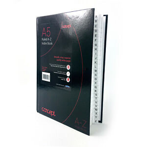 A5 Hard Cover A-Z Index Notebook Ruled Book 192 Pages