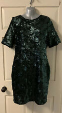 RIVER ISLAND GREEN COCKTAIL/PARTY/EVENING SEQUIN DRESS BNWT UK 16
