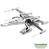 Metal Earth Star Wars Poe Dameron's X-Wing Fighter 3D DIY Model Building Kit