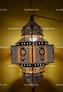 Moroccan Turkish Lamp Vintage Handmade Hanging Ceiling Fixture Bohemian Lights