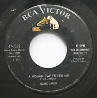 Country 45 Hank Snow - A Woman Captured Me / My Lucky Friend On Rca Victor