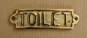 TOILET BRASS DOOR SIGN NOTICE OLD ANTIQUE STYLE PUB BAR MAN CAVE