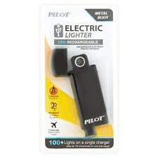 Pilot USB Rechargeable Electric Lighter Metal Body NEW Sealed 100+ Lights