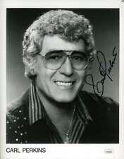 Carl Perkins Jsa Coa Hand Signed 8x10 Photo Autograph