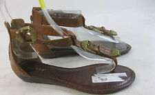 Summer New brown   WOMEN SHOES ankle strap SANDALS  SIZE  7.5 free shipping