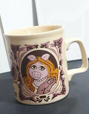 The Muppet Show Miss Piggy Mug Cup Kiln Craft 1978 Henson Stafforshire Potteries