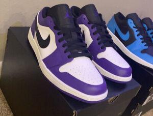 Air Jordan 1 Low - Court Purple {553558-125}Size 11 DS NEVER WORN Champs Receit