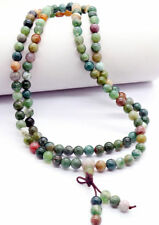 6mm India Agate 108 Prayer Tibetan Buddhist Beads Mala Bless Bracelet Necklace