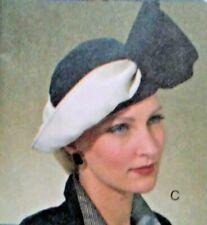 Vogue Vintage 1930 1940s Hat Accessories 7838 One Size Pattern Uncut