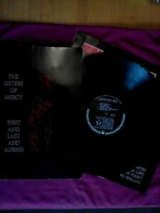 "The Sisters Of Mercy First & Last & Always G/Fold LP+ 12"" Single Ex"