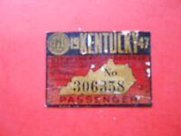 1947 Kentucky Passenger Windshield Sticker