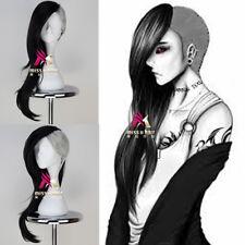 Tokyo Ghoul Uta Mask Maker Wig Long Wavy Black n Silvery Grey Anime Cosplay Wig