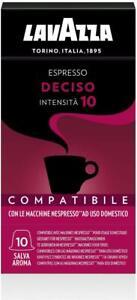 200 Capsule Lavazza Compatibili Nespresso Caffè Espresso Miscela Deciso