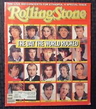 1985 ROLLING STONE Magazine #454 FN 6.0 Live Aid Bowie - Sting - Dylan - Jagger