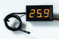 LED Thermometer -20°+110°C klein hell 12V/24V Temperaturanzeige Einbau NTC 14mm