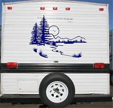 Lake Landscape Camper RV Vinyl Decal Sticker 40x30 Camper Graphics Stickers