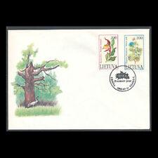 Lithuania, Sc #425-26, FDC, MNH, 1992, Flora, Flowers, COV267