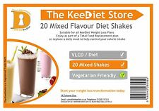 KeeDiet® VLCD Meal Replacement Ketosis Weight Loss - 20 x Mixed Diet Shakes SLIM