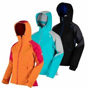 Regatta Desoto III Womens Water Repellent Hooded Softshell Jacket Coat RRP £110