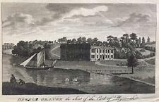 1785 Antique Print; Hewell Grange, Tardebigge, Worcestershire - Universal Mag.