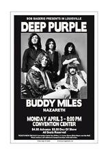 Deep Purple 1972 Louisville Concert Poster