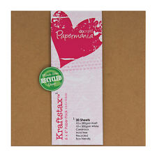 """Papermania Recycled 6x6"""" Kraftstax scrapbooking card 280gm 10 each brown & white"""