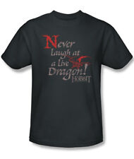 The Hobbit Never Laugh At A Live Dragon Quote T-Shirt, Lord of the Rings Unworn