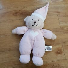 Mothercare Bedtime teddy bear Pink Girls Soft Toy heart cuddly star Plush